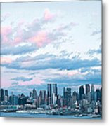 Nyc Sundown Blue II Metal Print