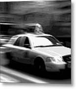 Nyc Taxi Bw16 Metal Print by Scott Kelley