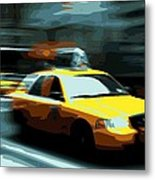Nyc Taxi Color 16 Metal Print