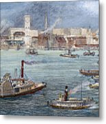 Nyc: The Battery, 1884 Metal Print