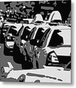 Nyc Traffic Bw3 Metal Print