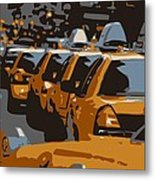 Nyc Traffic Color 6 Metal Print