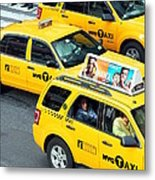 Nyc Yellow Cabs Metal Print