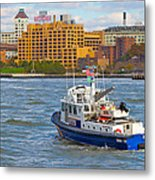 Nypd In The Water Metal Print