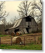 Oak Barn Metal Print