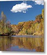 Oak Creek Reflection Metal Print