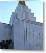 Oakland California Temple . The Church Of Jesus Christ Of Latter-day Saints . 7d11364 Metal Print by Wingsdomain Art and Photography