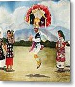 Oaxaca Dancers Metal Print