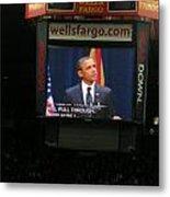 Obama At Mchale In Tucson Metal Print