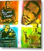 Obama Squared Metal Print by Tony B Conscious