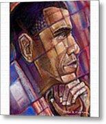 Obama. The Thinker Metal Print by Fred Makubuya