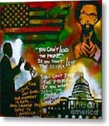 Obama Vs. Cornel Metal Print by Tony B Conscious