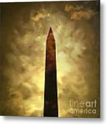 Obelisk. Illustration Metal Print by Bernard Jaubert