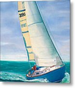 'obsession' Racing On The Atlantic Metal Print