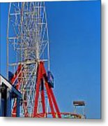 Oc Winter Ferris Wheel Metal Print