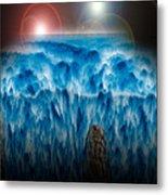 Ocean Falling Into Abyss Metal Print