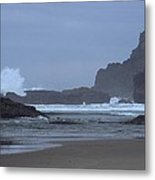 Ocean Splash Metal Print