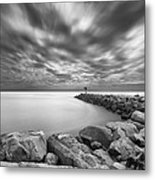 Oceanside Harbor Jetty 2 Metal Print by Larry Marshall