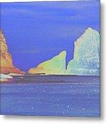 Oceanside Rocks Metal Print