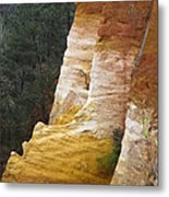 Ochre Quarry Of Roussillon, Provence Metal Print