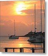 Ocracoke Island Harbor Sunset Metal Print