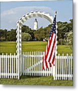 Ocracoke Lighthouse July 4th Metal Print by Bill Swindaman