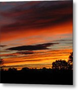 October's Colorful Sunrise Metal Print