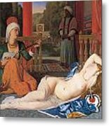 Odalisque With Slave Metal Print by Jean-August-Dominique Ingres