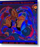 Ode To The Dogon The Eternal Flame Metal Print