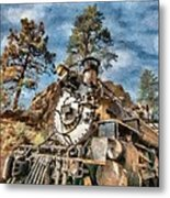 Of Mountain And Machine Metal Print