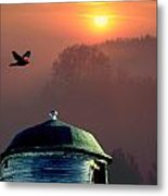 Of Setting Suns Metal Print