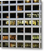 Office Building At Night Metal Print