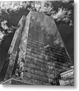 Office Buildings And Clouds White Plains Ny 3 Metal Print