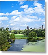 Office Buildings From A Park Metal Print