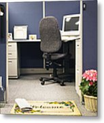 Office Cubicle Metal Print