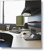 Office Work Station Metal Print by Jetta Productions, Inc
