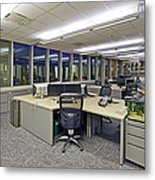 Office Work Stations Metal Print by Francis Zera