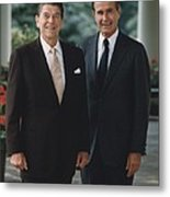 Official Portrait Of President Reagan Metal Print by Everett