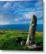 Ogham Stone, Dunmore Head, Dingle Metal Print