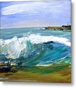 Ogunquit Beach Wave Metal Print