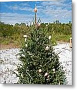 Oh Christmas Tree Florida Style Metal Print