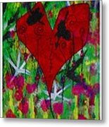 Oh My Green Heart Metal Print
