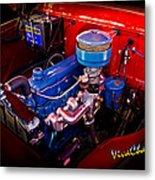 Oh So Simple Sanitary Truck Engine Metal Print