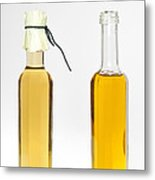 Oil And Vinegar Bottles Metal Print by Matthias Hauser