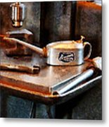 Oil Can And Wrench Metal Print