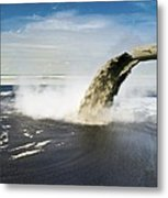 Oil Industry Pollution Metal Print