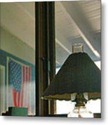 Oil Lamp And Porch Metal Print