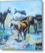 Oil Pastel2 Metal Print by Lyn Vic