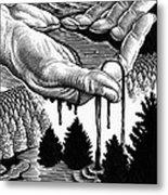 Oil Pollution Metal Print by Bill Sanderson