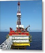 Oil Production Rig, Baltic Sea Metal Print